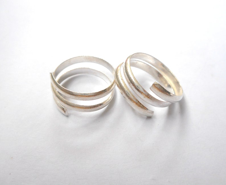 Sterling Silver Spiral toe ring Toe ring India.