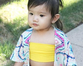 Baby/Child bandeau top; crop top