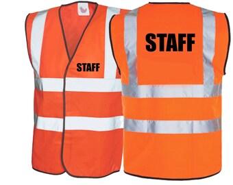 Staff Hi Vis Vest Staff Hi Visibility Clothing Safety Clothing Safety Vest Shop Staff Safety Clothing Site Staff Safety Clothing Hi Viz