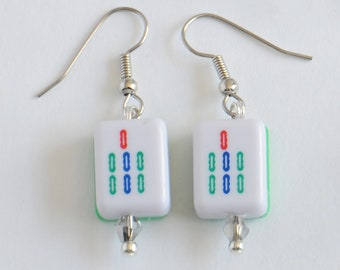 Mini Mah Jongg Dangle Earrings