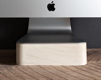 iMac, Thunderbolt ordinateur Stand, Apple Computer, bois d'érable, artisanal, fait main, Made in Canada