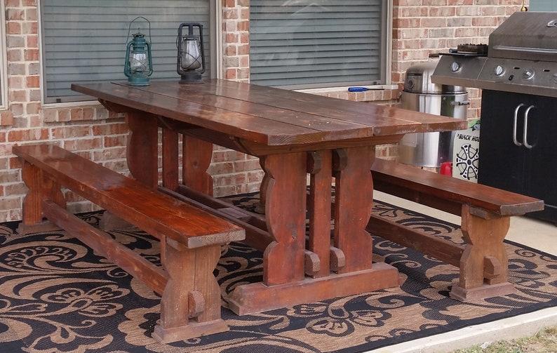 Rustic Farmhouse Picnic Table Plans