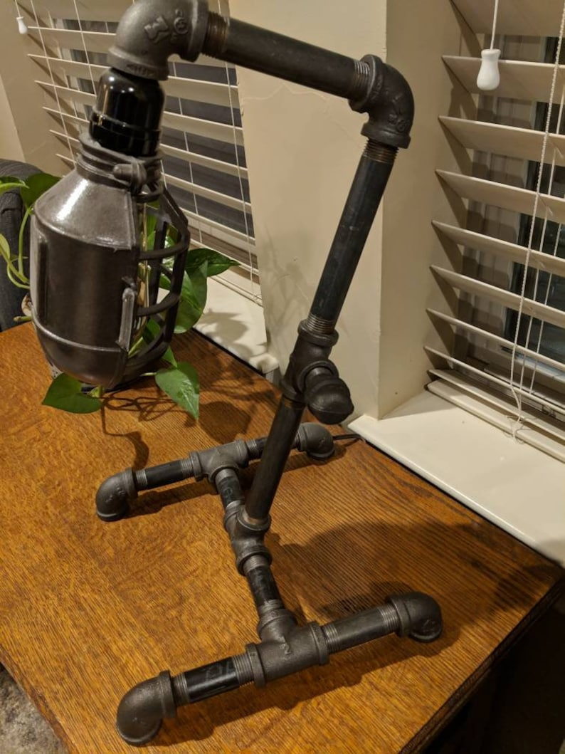 made to order Steampunk lamp Edison Lamp Pipe Lamp