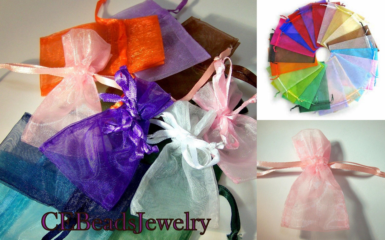 2x3 Organza Gift Bags Sheer Jewelry Wedding Favors Drawstring