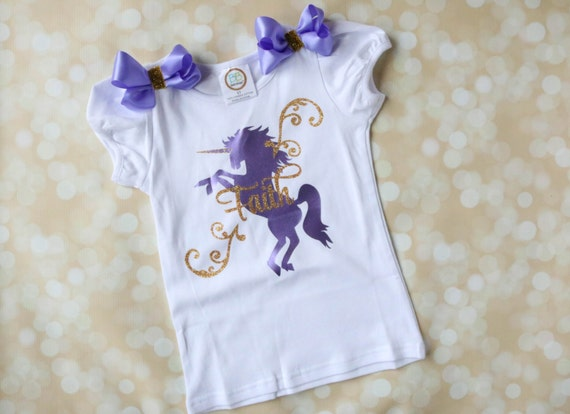 Unicorn Birthday Shirt Personalized Girls T Horse