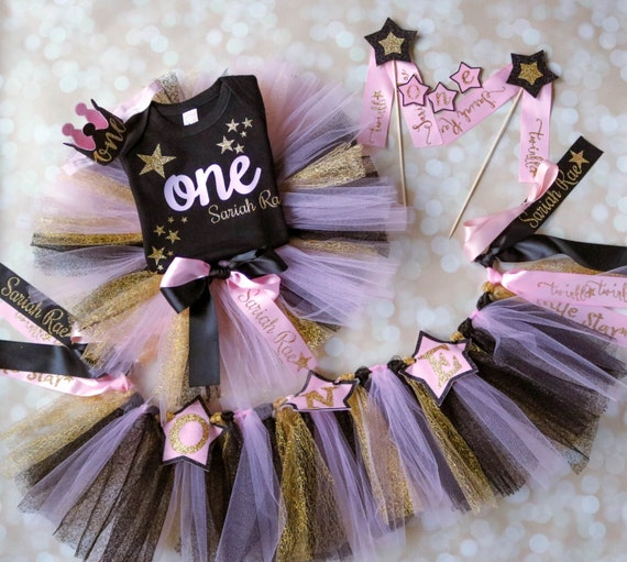 pink gold Twinkle twinkle little star first birthday outfit star 1st birthday twinkle little star birthday outfit star first birthday