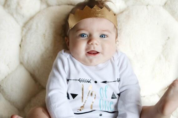 Half 1 2 Birthday Personalized Shirt For Baby Boy Tribal Arrow