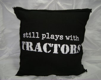 Handmade pillow cover,  14X14, man cave, garage