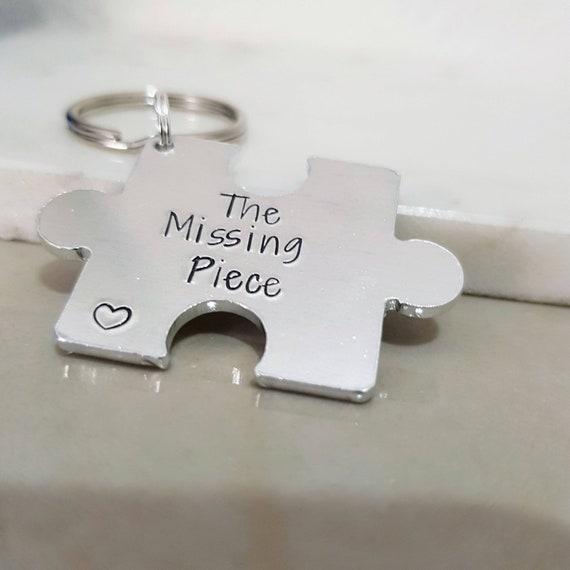 I ve found my missing piece puzzle Keychain Jigsaw  51c5202411