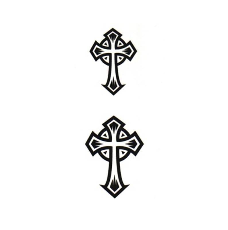 Krzyż Celtycki Tymczasowy Fake Tatuaż Body Art Transfer Waterpoof Fancy Dress
