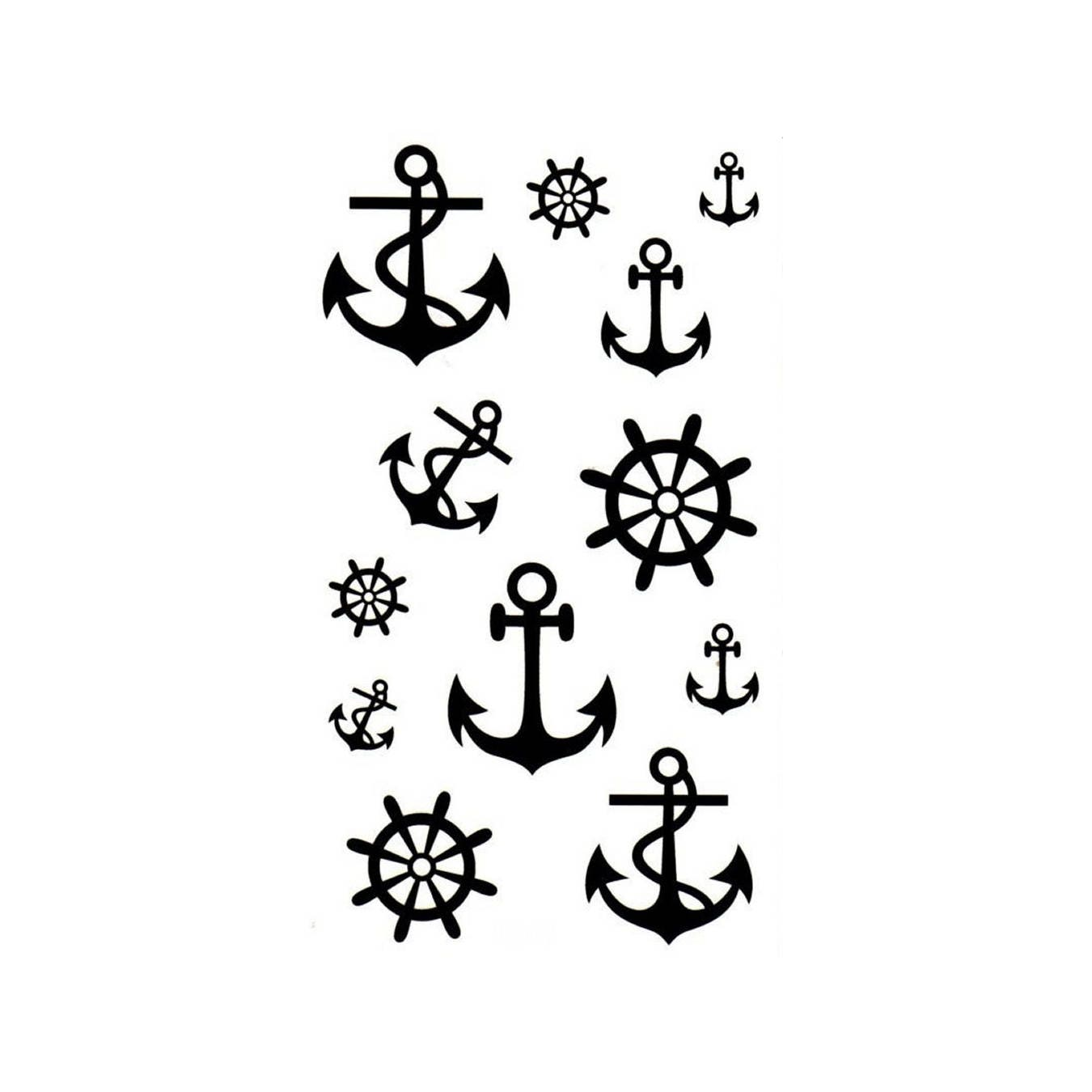 a9841e0c52e81 Waterproof Temporary Tattoos Transfer Anchor Rudder Celebrity | Etsy