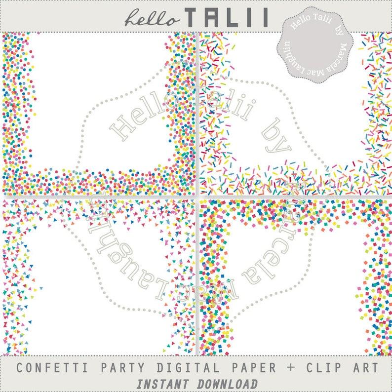 Coriandoli cornici Clip Art Digital Papers arcobaleno PNG  9a45405e4041