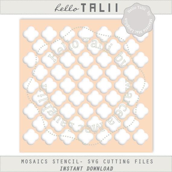 DIGITAL Moroccan Stencil SVG die cuts Tiles Trellis template | Etsy