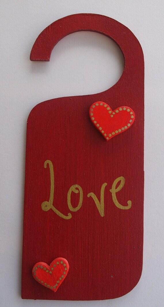 Mano dipinta compensato attaccapanni per porta decorata con abbellimenti e la parola