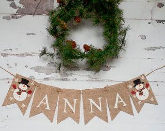 Christmas Banners, Christmas Decorations, Christmas Birthday Party, Christmas Signs, Christmas Nursery Decor, Snowman Banner, B127