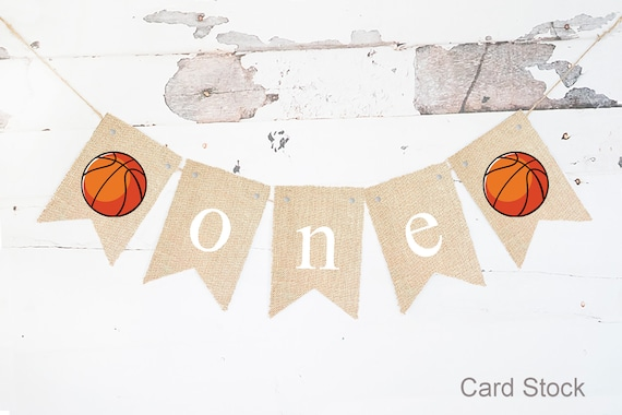 Sport banner Boys First Birthday Highchair banner ONE banner Party decorations sports theme party banner football basketball party decor