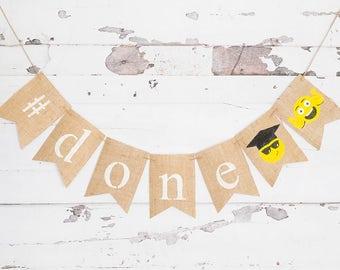 Class of 2017 Decor, 2017 Emoji Graduation Banner, Graduation Party Banners, Class of 2017 Hashtag Decorations, 2017 Class Banners, B538