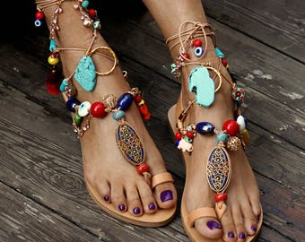 "Sandals ""Karapiperim"" (handmade to order)"