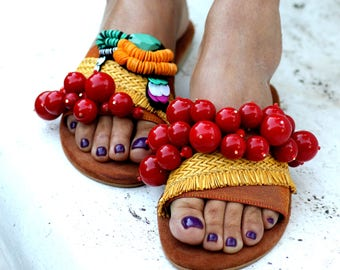 "Sandals ""Cherry Picker"" (handmade to order)"