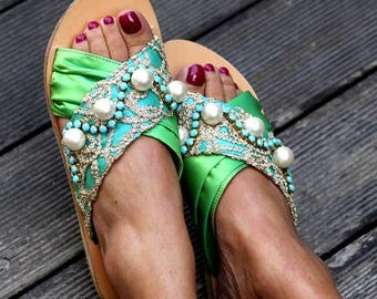 "Sandals ""Aisha"" (handmade to order)"