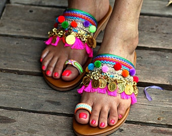 "Sandals ""Jaipur"" (handmade to order)"