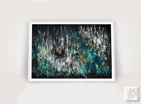 Hand-Painted Art Abstract Artwork Light textured Art Rustic Industrial Style Handmade Wall Art Mixed Media Colorful Textured Art