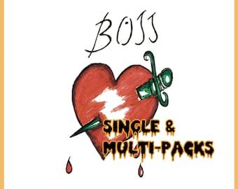 "Frank N Furter ""BOSS"" Temporary Tattoo Rocky Horror Picture Show (Single & Multi-Packs)"