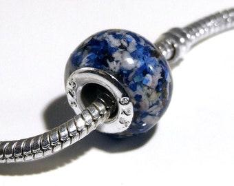 Cremation ashes European-style (Pandora) charm bracelet bead