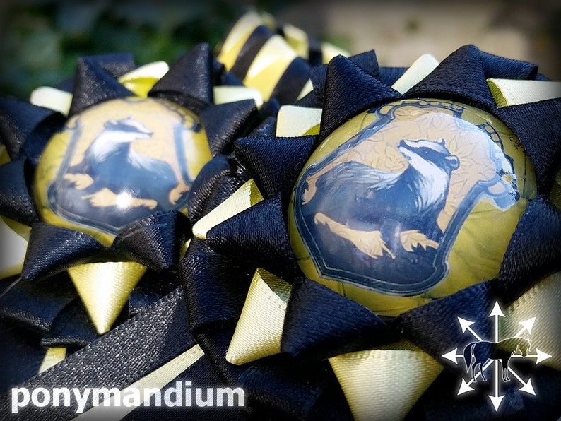 House emblem x-full 17 browband in yellow and black