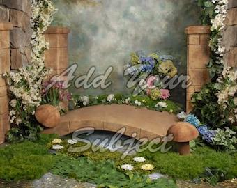 Digital Photo Background Spring Fairy Backdrop