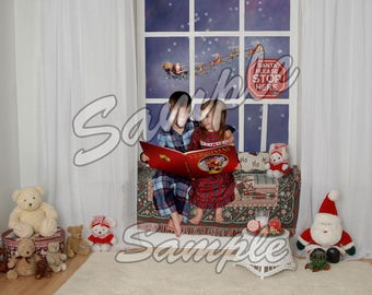 Digital Christmas Background Photo Backdrop Download