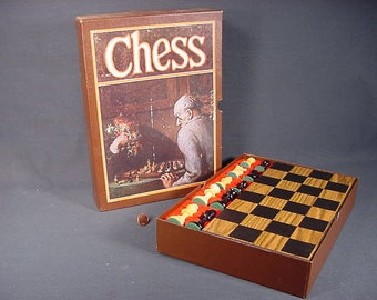 Chess 3M Board Game Vintage Old Collectible Bookshelf Games Instructions 1970