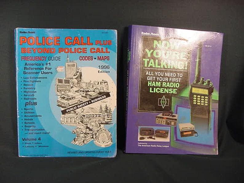 Vintage Old Collectible * Books Radio Shack * Ham Radio License * Police  Calls