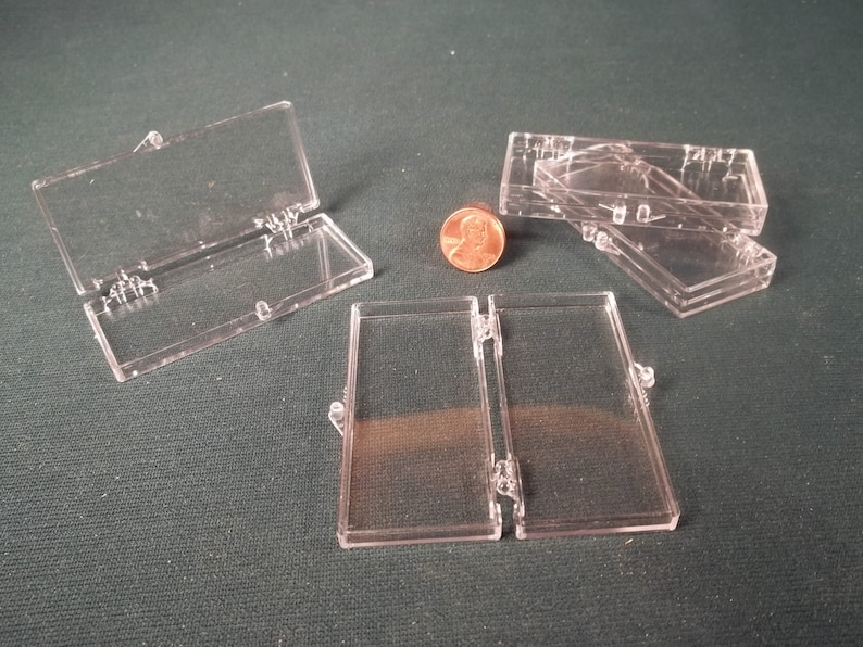 Clear Plastic Display Box * Storage Shipping * Snap /& Hinge Closure * Lot of 12  *Craft Supply * Display Sale