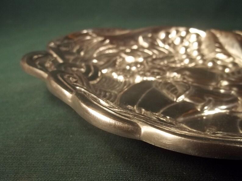 Vintage Old Collectible Dish Tray Horn of Plenty Lenox # Heavy Aluminum Platter