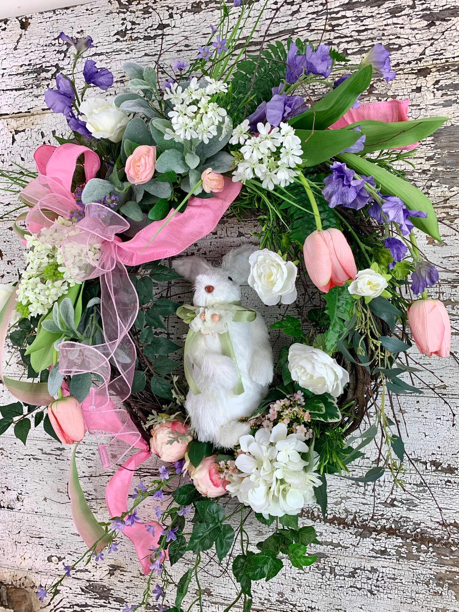 Ginger Ray Easter Bunny Spring Foliage Wreath 32m H Hop This Way,
