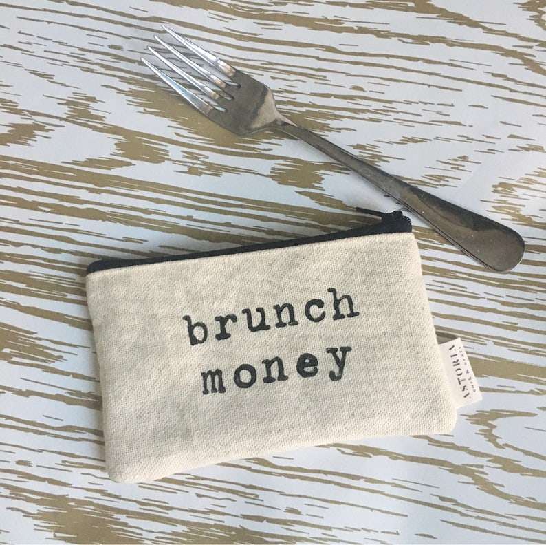 funny wallet coin purse best friend gift card holder canvas wallet brunch money zippered wallet gifts for her small pouch