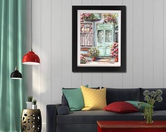 Paris Kitchen Decor Theme, French Kitchen Decor, Paris Wall Decor, Paris Room Decor, Paris Posters, Paris Bedroom Decor, French Home Decor