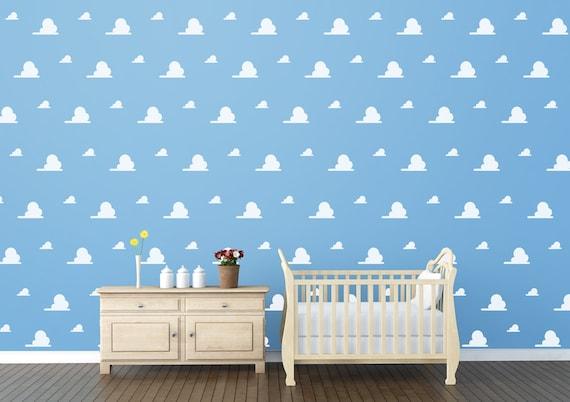 Cloud Vinyl Decal Wall Pattern Kids Toy Bedroom And Nursery Etsy