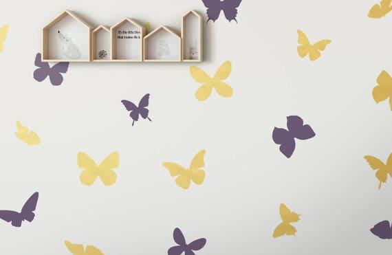 Papillon vinyle Wall Decals, 56 papillons différents Styles, idéal ...
