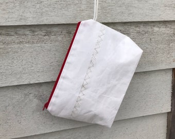 Custom Sailcloth Toiletry Accessory Pouch, Clutch