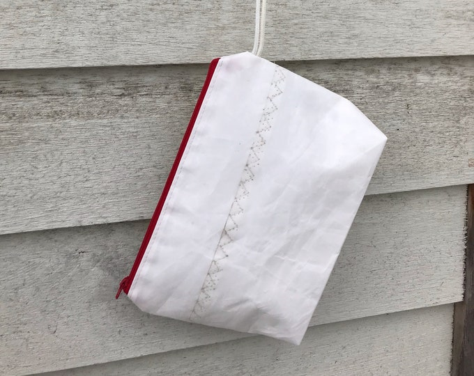 Recycled Sailcloth Toiletry Accessory Pouch, Clutch