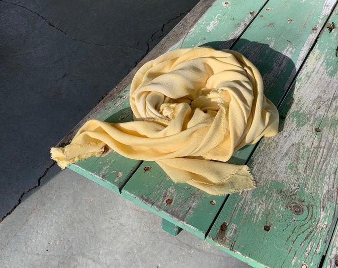 Botanic Dyed Shawl, Marigold