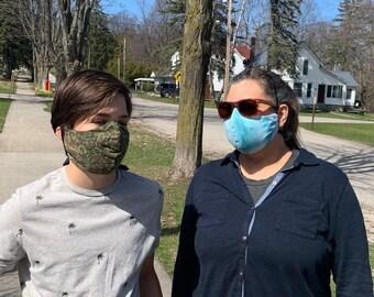 Leland Comet Special:  Face Masks with Filter Pocket, Reversible
