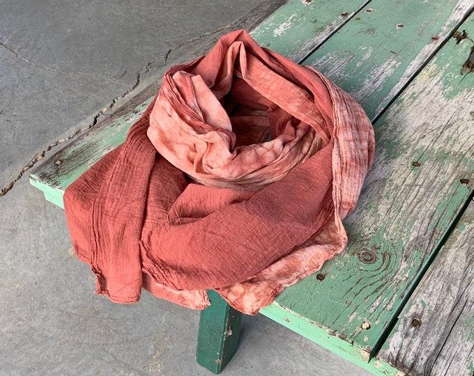 Botanic Dyed Shawl, Quebracho Rojo