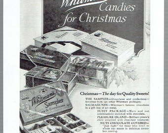 Image result for 1950s whitman sampler christmas