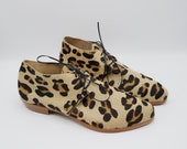 The bex. leopard print hair on. 2cm    handmade shoes, minimal and soft    made to order   