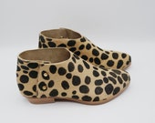 The karina. spotted hair on. 3cm    handmade shoes, minimal and soft    made to order   