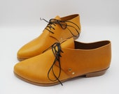The bex. volonato ocre. 2cm.    handmade shoes, minimal and soft    made to order   