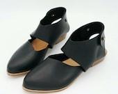 The chiara. raider black. 2cm    handmade shoes, minimal and soft    made to order   